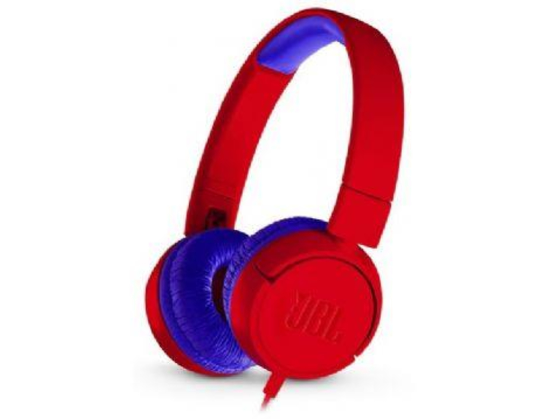 אוזניות קשת לילדים JBL JR300 צבע אדום
