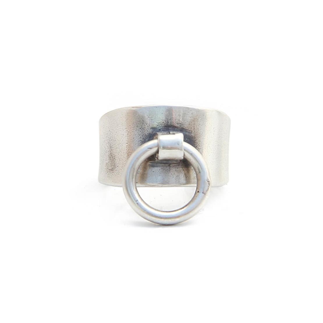 טבעת נזם - כסף 925 מושחר
