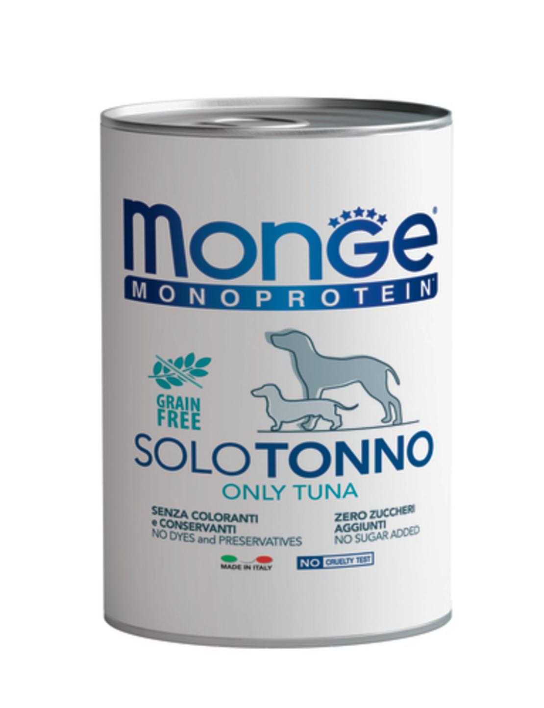 MONGE מונג' מזון רטוב לכלבים מונו פרוטאין בטעם טונה 400 גרם