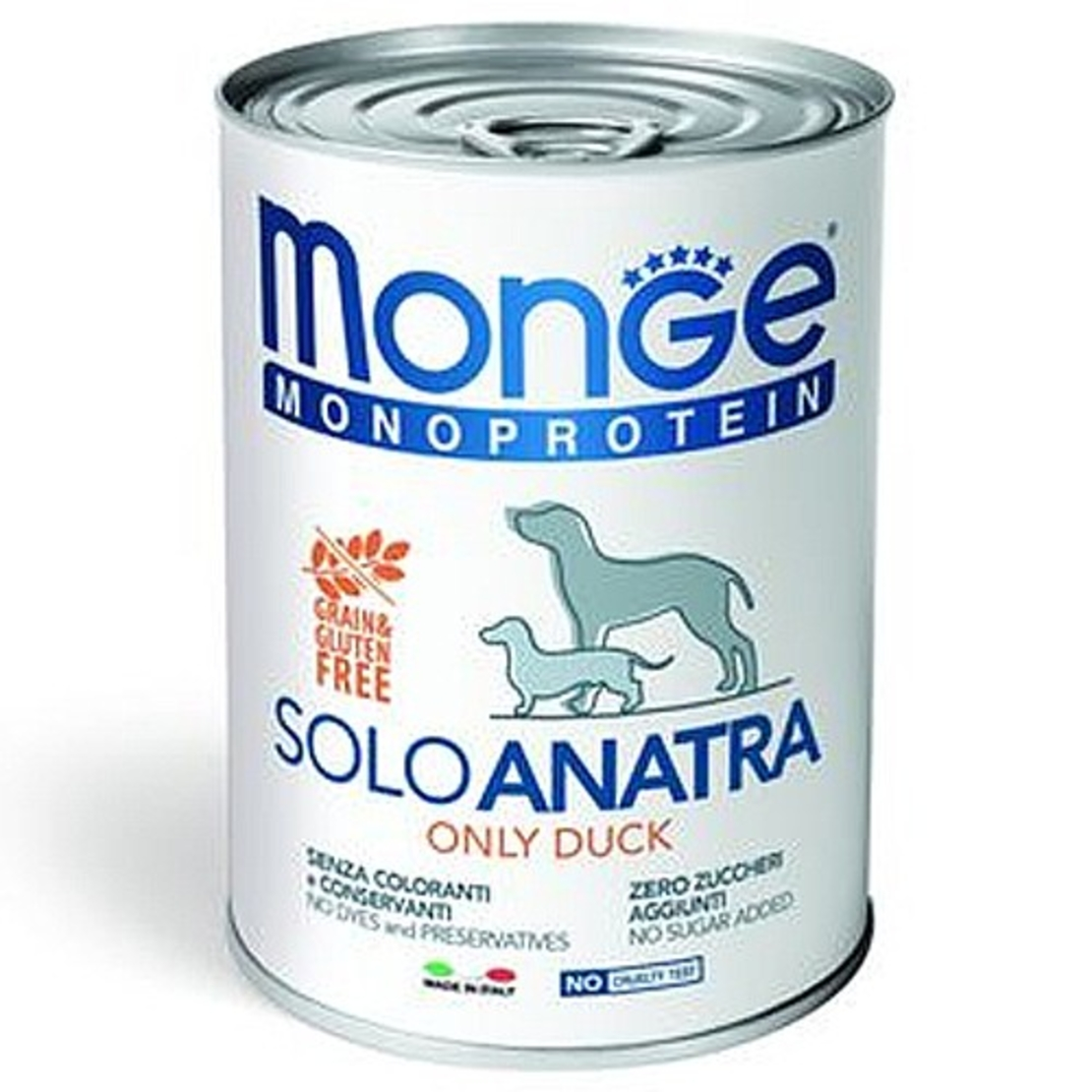 MONGE מונג' מזון רטוב לכלבים מונו פרוטאין בטעם ברווז 400 גרם
