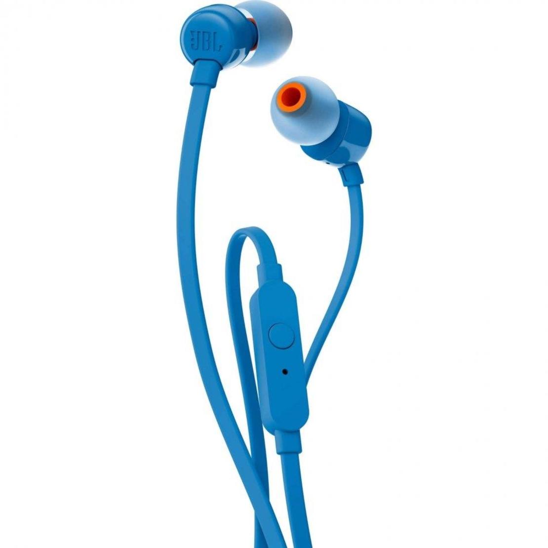 אוזניות IN EAR עם מיקרופון JBL T110 - כחול