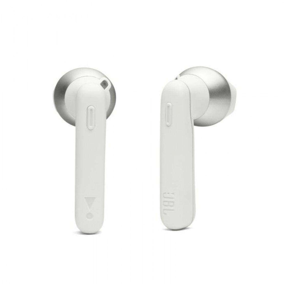 אוזניות אלחוטיות JBL T220TWS צבע לבן