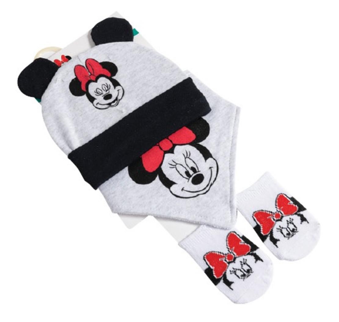 סט מיני מאוס אדום - סינר, גרביים וכובע
