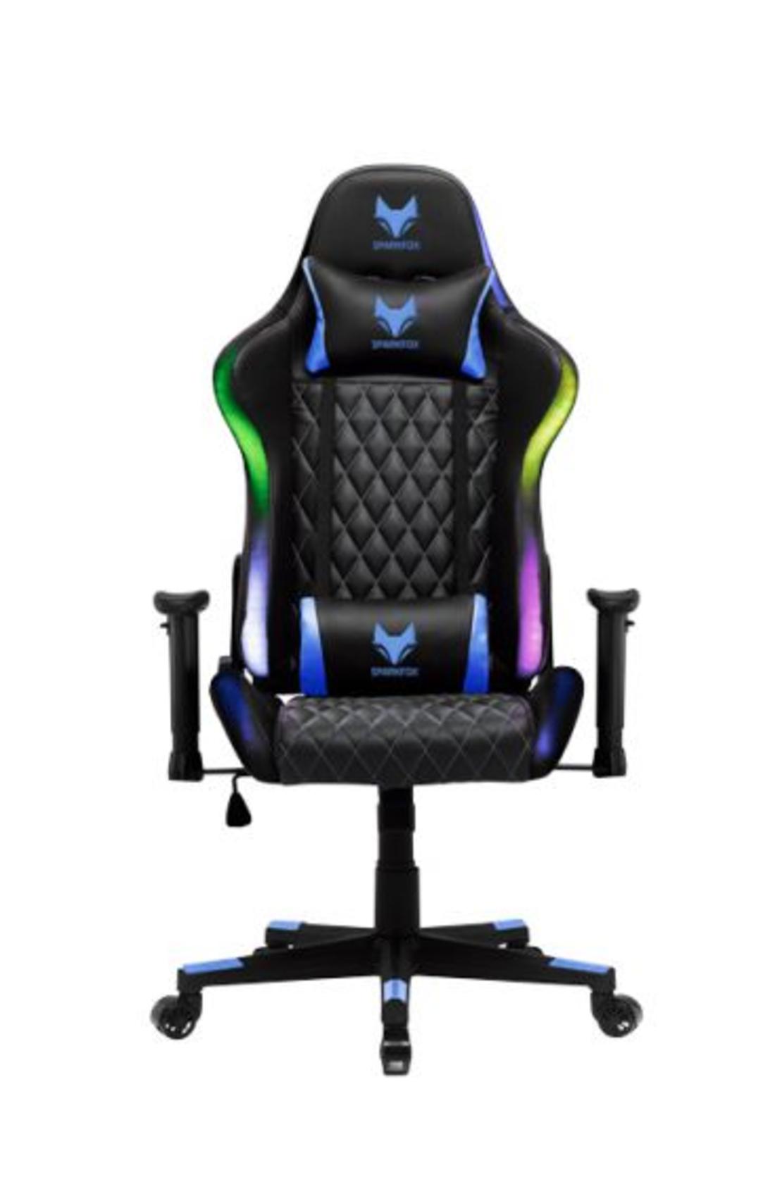מושב גיימינג מקצועי תאורת לד RGB - GT ELITE SPARKFOX GC65E שחור/כחול