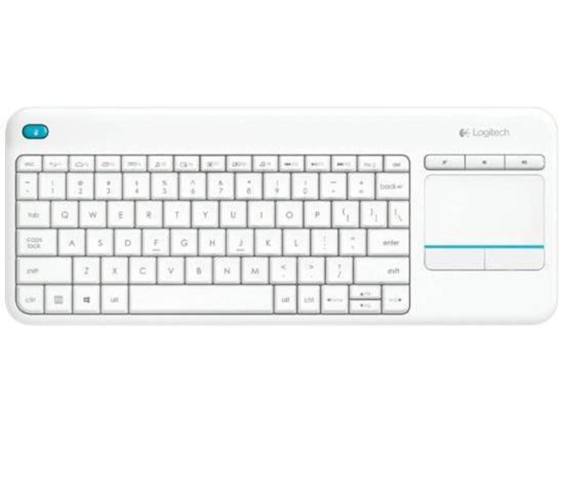 מקלדת אלחוטית Logitech Touch K400 Plus בצבע לבן