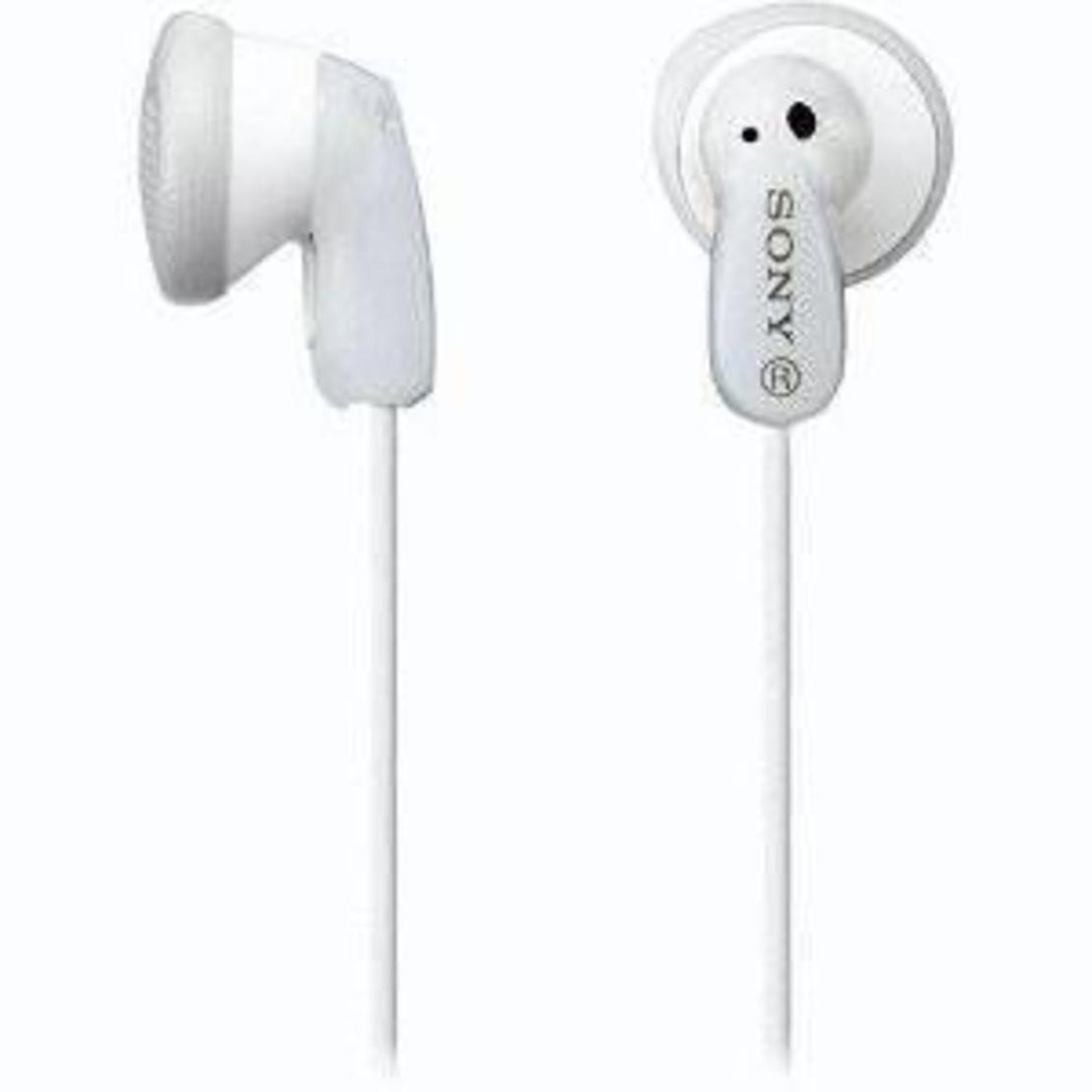 אוזניות IN-EAR MDRE9LP Sony בצבע לבן