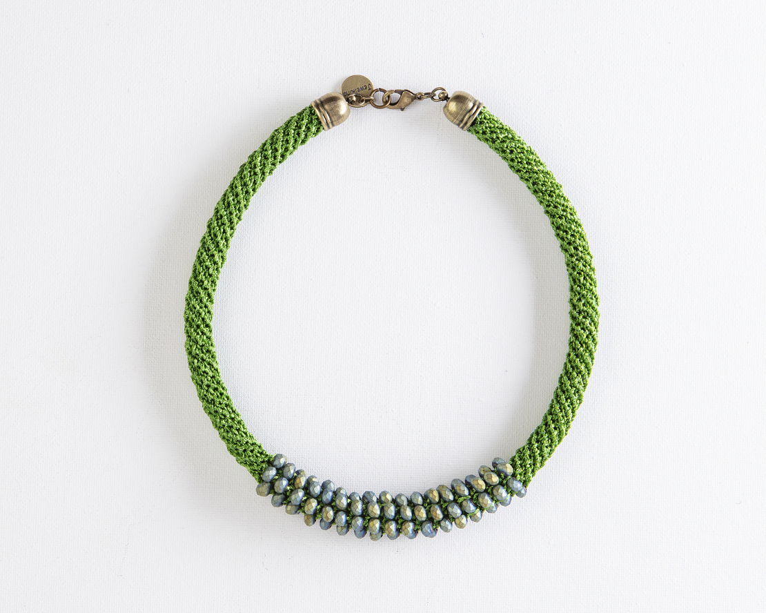 שרשרת אילה ירוק / כחול