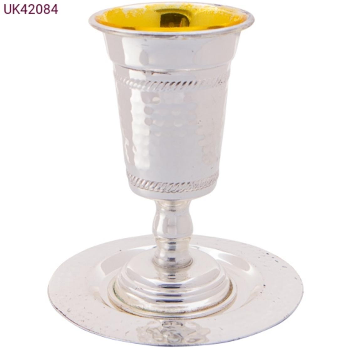 גביע קידוש ציפוי כסף עם רגל ותחתית