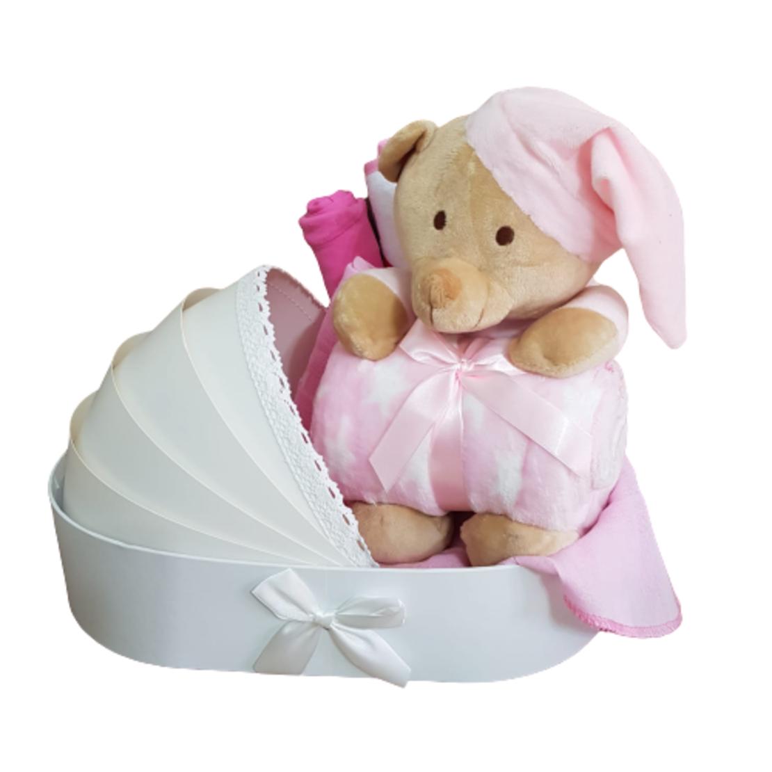 מתנה להולדת הבת - עריסת דובי