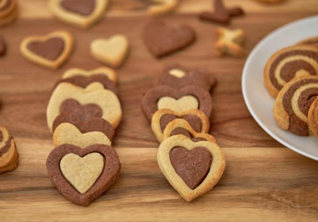 עוגיות שוקו וניל-שחור לבן
