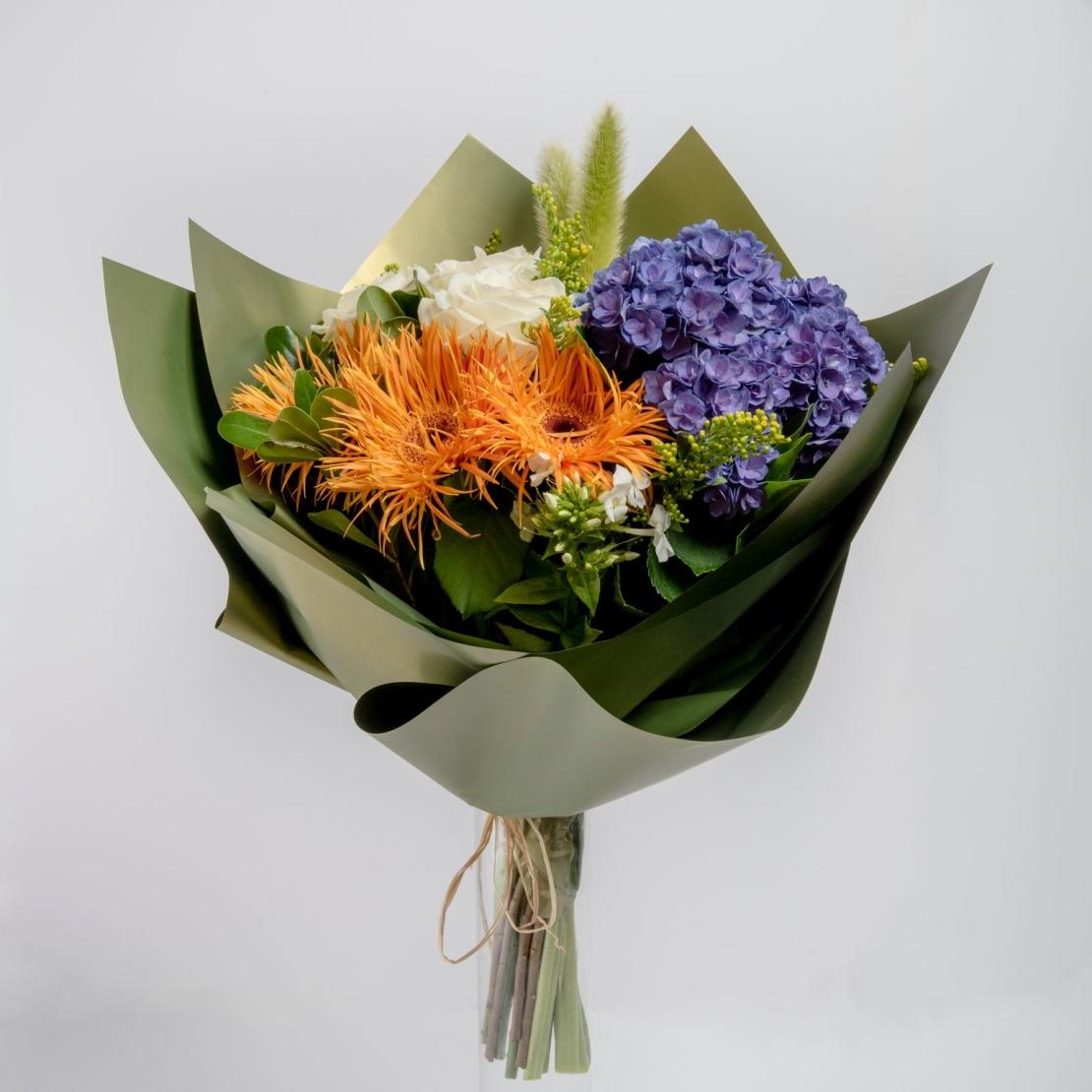 זר פרחים בסטייל אירופאי
