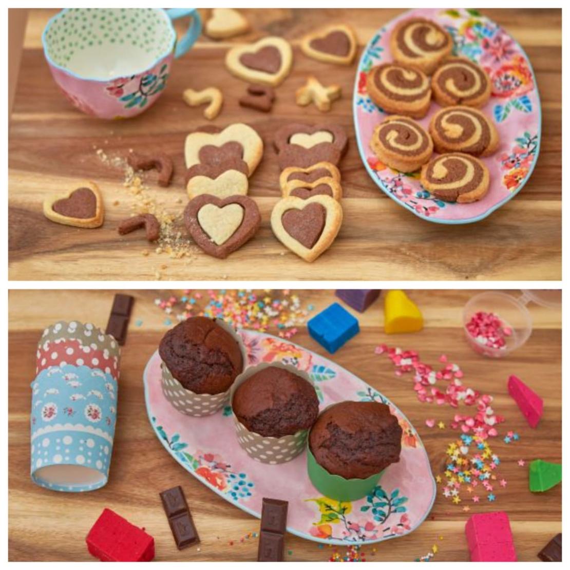 מארז מתוקים-קאפקייקס הפתעות ועוגיות שוקו וניל