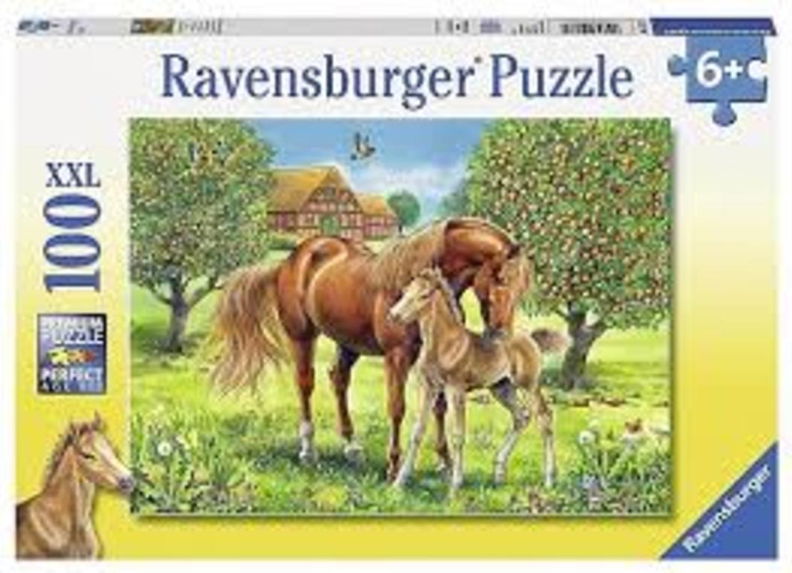 פאזל סייח עם סוס  100 חלקים Ravensburger