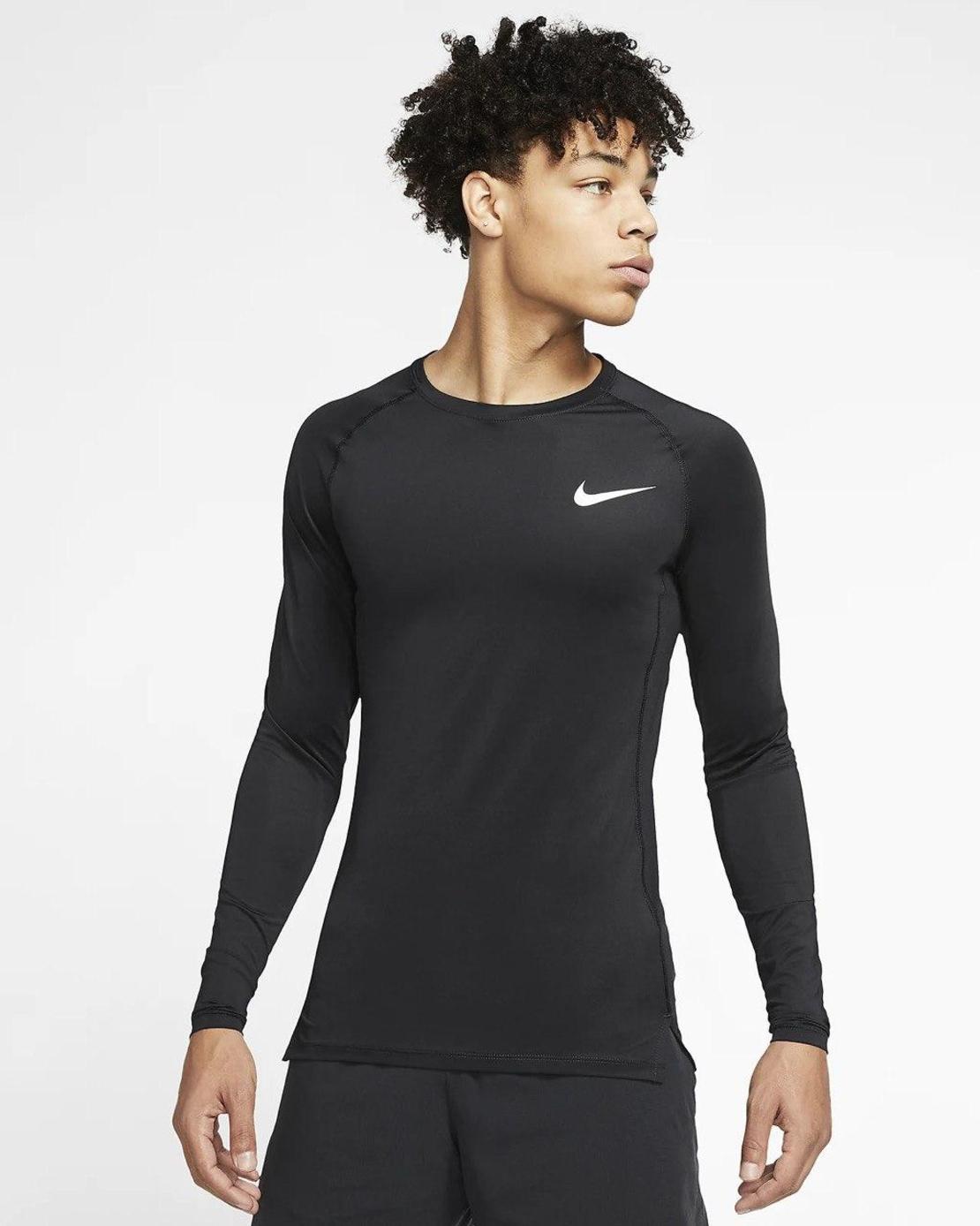 חולצת נייק לגברים   Nike Pro Men's Tight-Fit Long-Sleeve Top