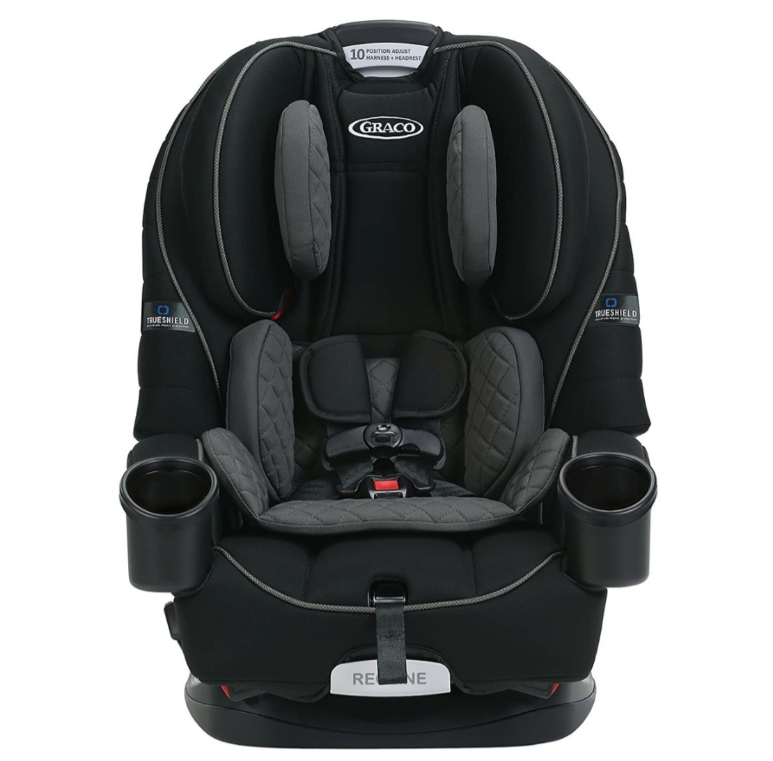 כיסא בטיחות גרקו 4Ever TrueShield - שחור