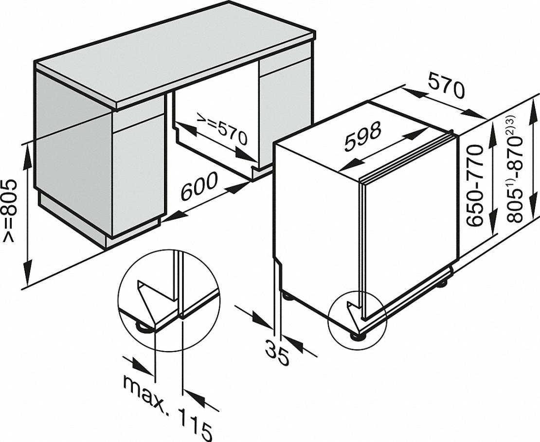 מדיח כלים אינטגרלי מלא מילה Miele דגם G4380 SCVi