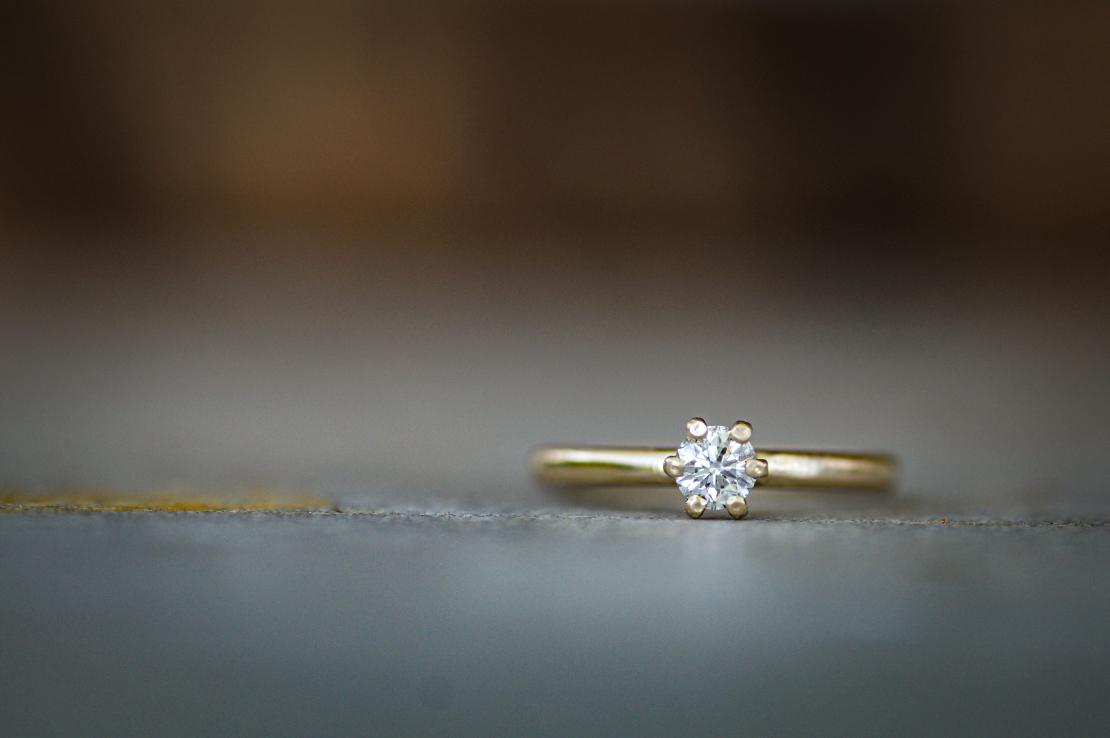 טבעת פרח יהלום