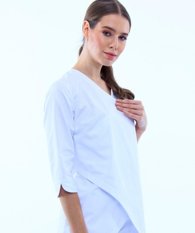 חליפה רפואית צבע לבן 40187