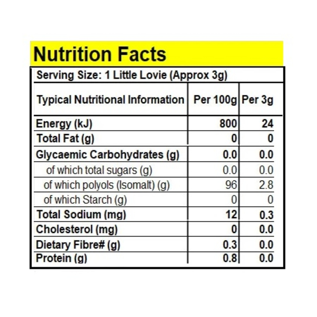ליטל לוביז - סוכריות קשות ללא סוכר בטעם ליקוריץ 100 ג