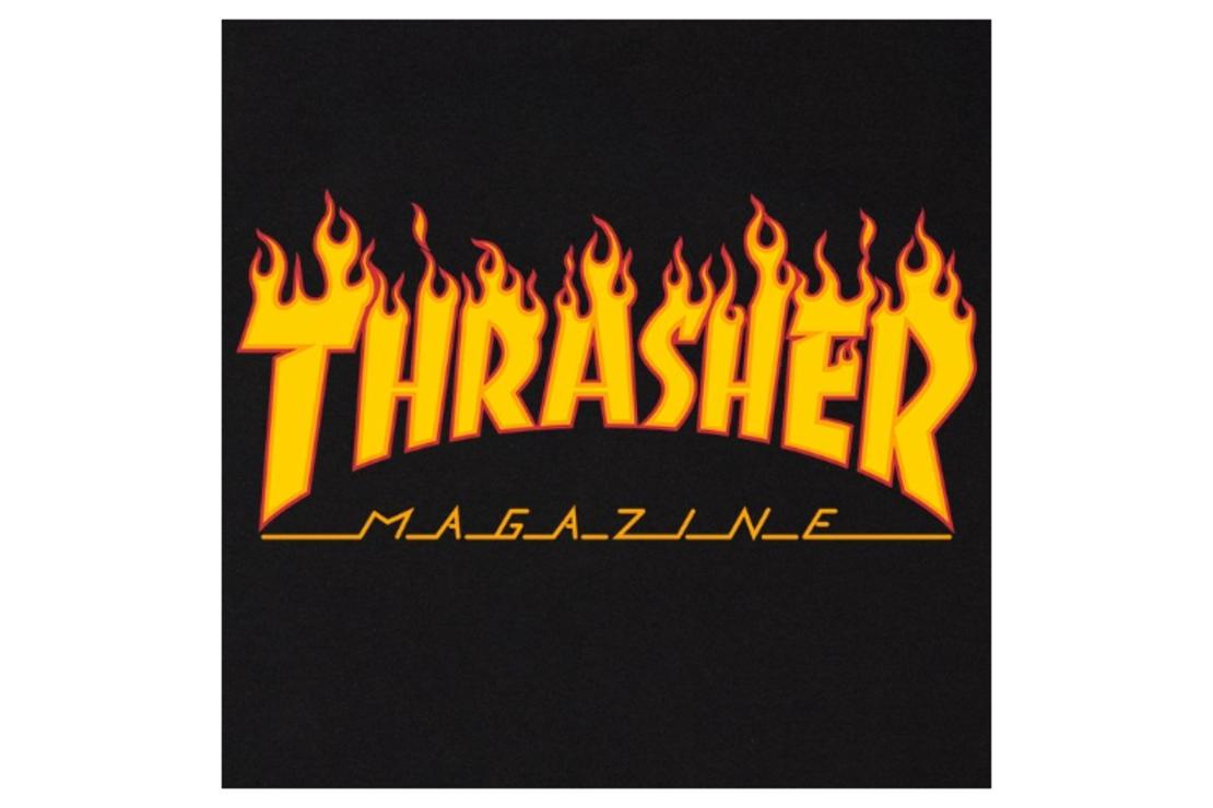 Thrasher - טי שירט לוגו בשחור