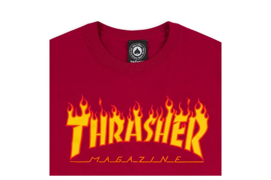 Thrasher - טי שירט לוגו באדום