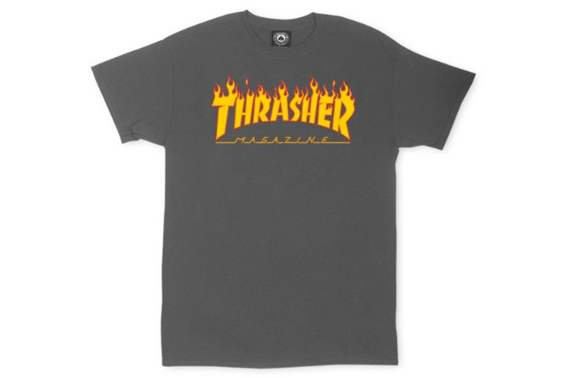 Thrasher - טי שירט לוגו באפור