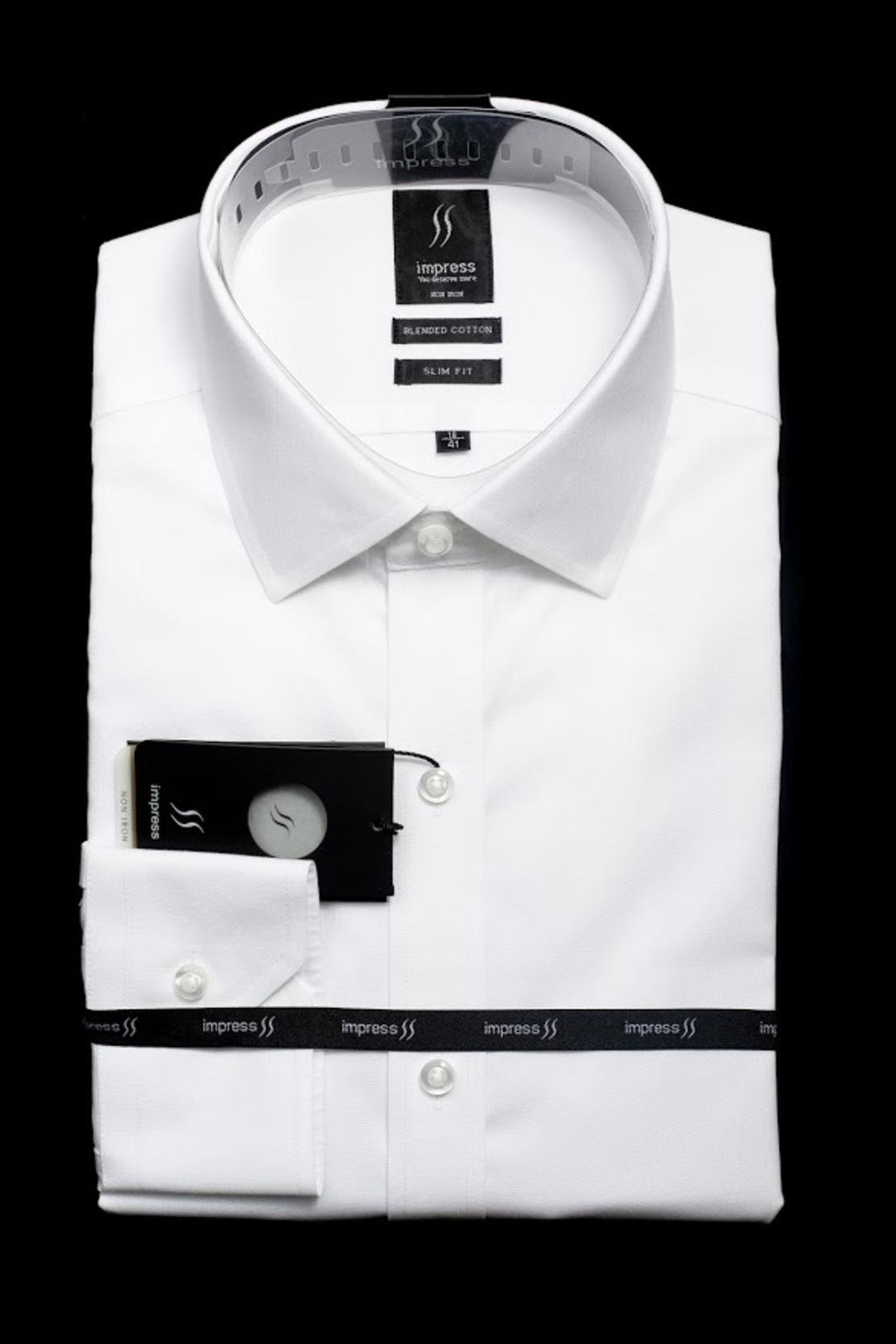 חולצה לבנה אימפרס 6200 גזרה רגילה עם כיס