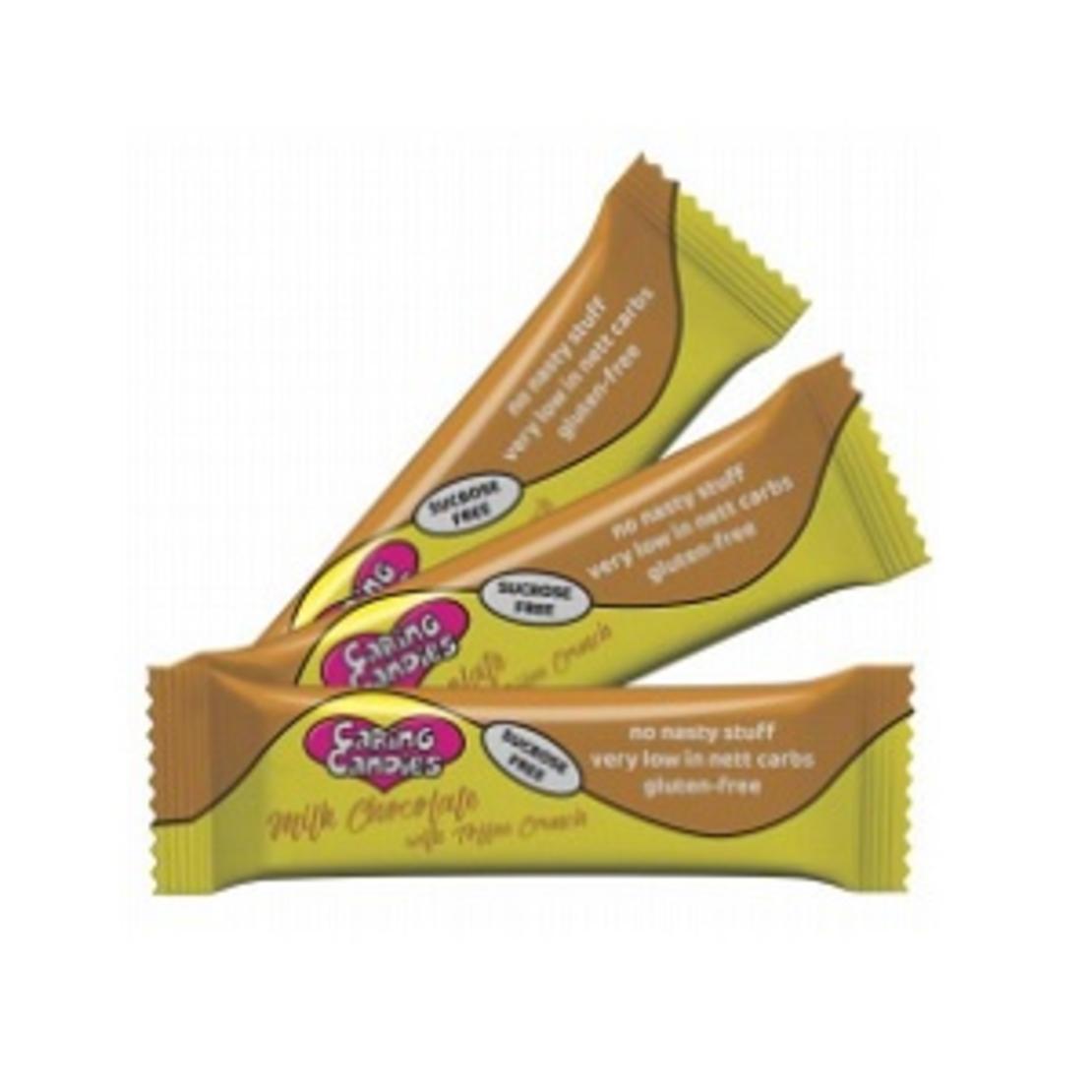 Sugar Free 30% Milk Chocolate with Toffee Crunch 50g