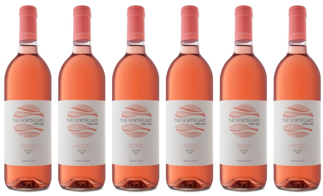 מארז 6 יינות רוזה   THE NORTH LAKE