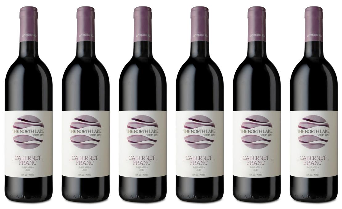 מארז 6 יינות קברנה פראנק   THE NORTH LAKE