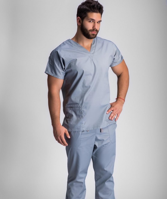 חליפת ניתוחים צבע אפור 0181