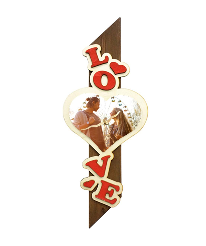 הדפסה על שעון עמוד עץ LOVE