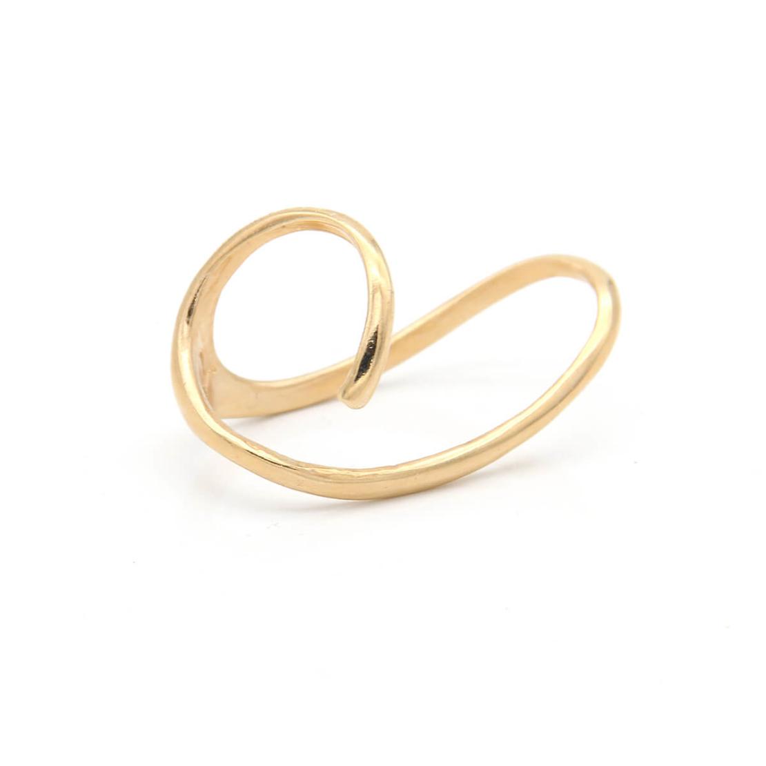 טבעת דאב - כסף 925 בציפוי זהב מיקרוני