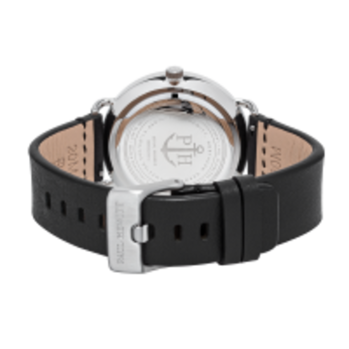 Watch Breakwater White Sand Silver Leather Pure Black