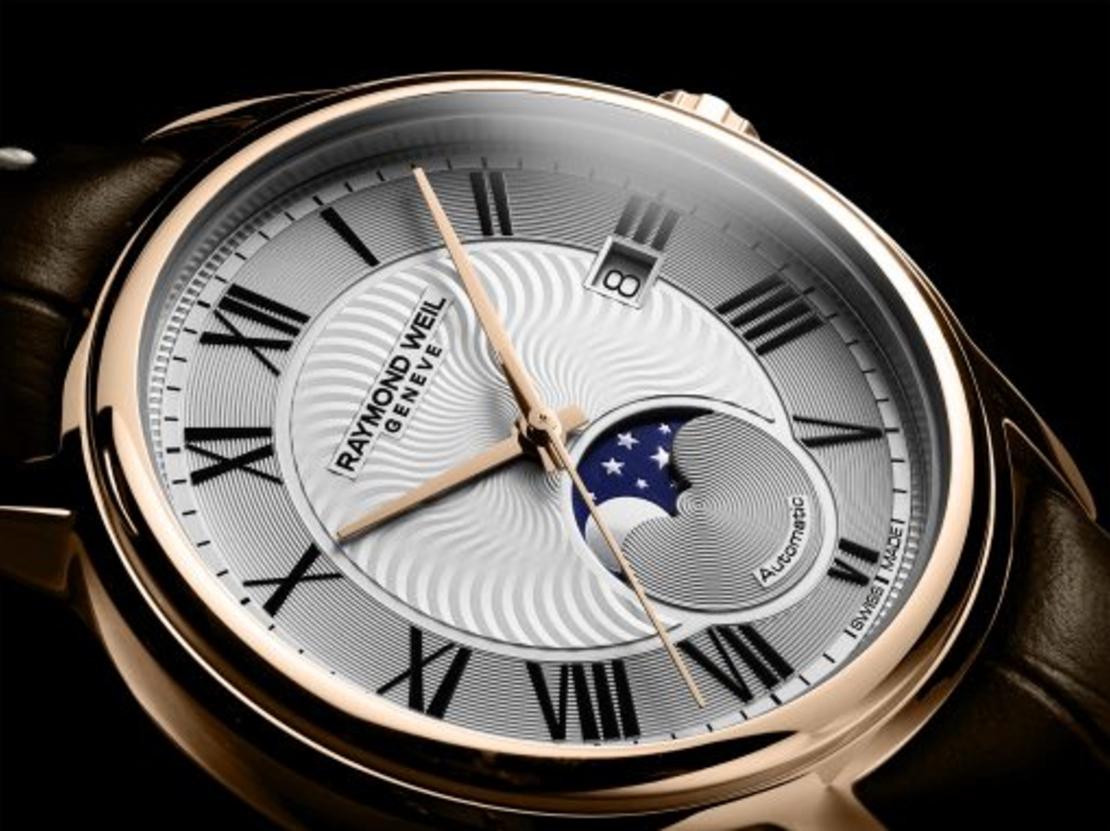 שעון Raymond Weil Maestro Moon Phase Automatic Brown Leather