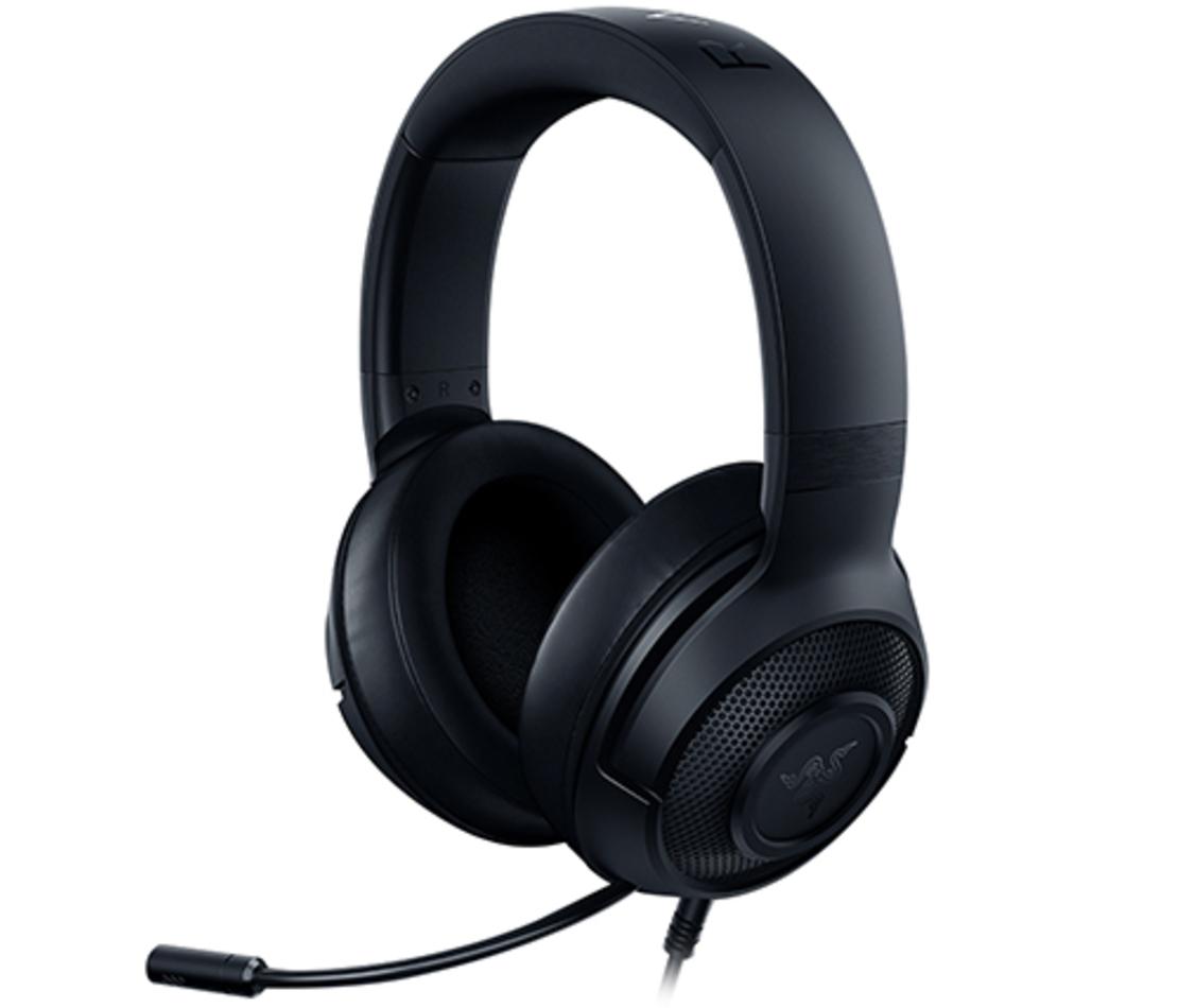 אוזניות גיימינג + מיקרופון Razer Kraken X בצבע שחור