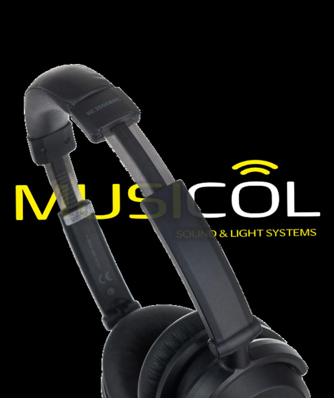אוזניות אלחוטיות מבטלות רעש פעיל  BEHRINGER HC-2000BNC