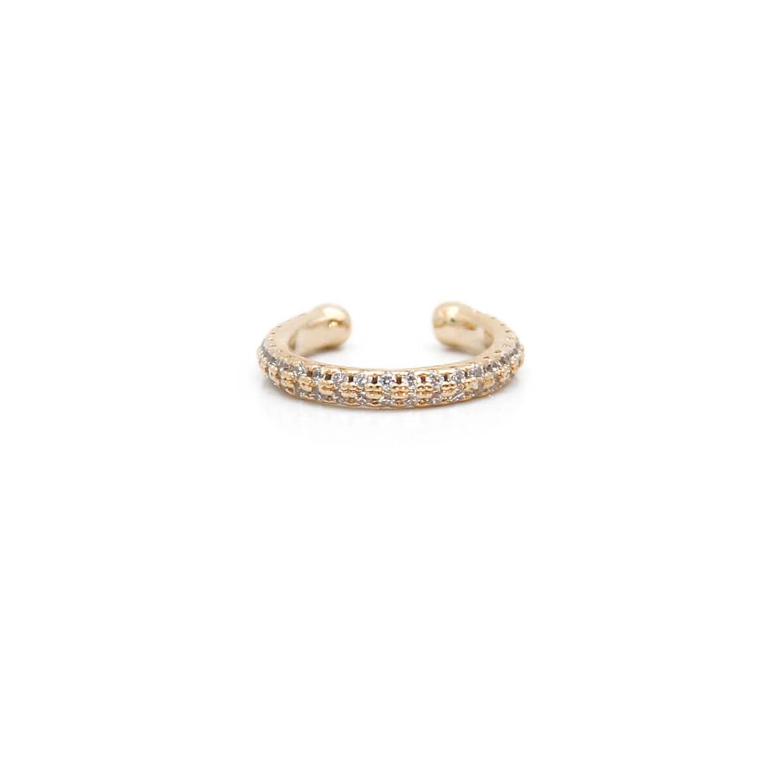קומבינציית עגילים - ZOE - כסף 925 בציפוי זהב מיקרוני