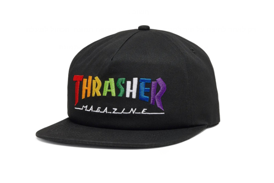 Thrasher - כובע Rainbow שחור