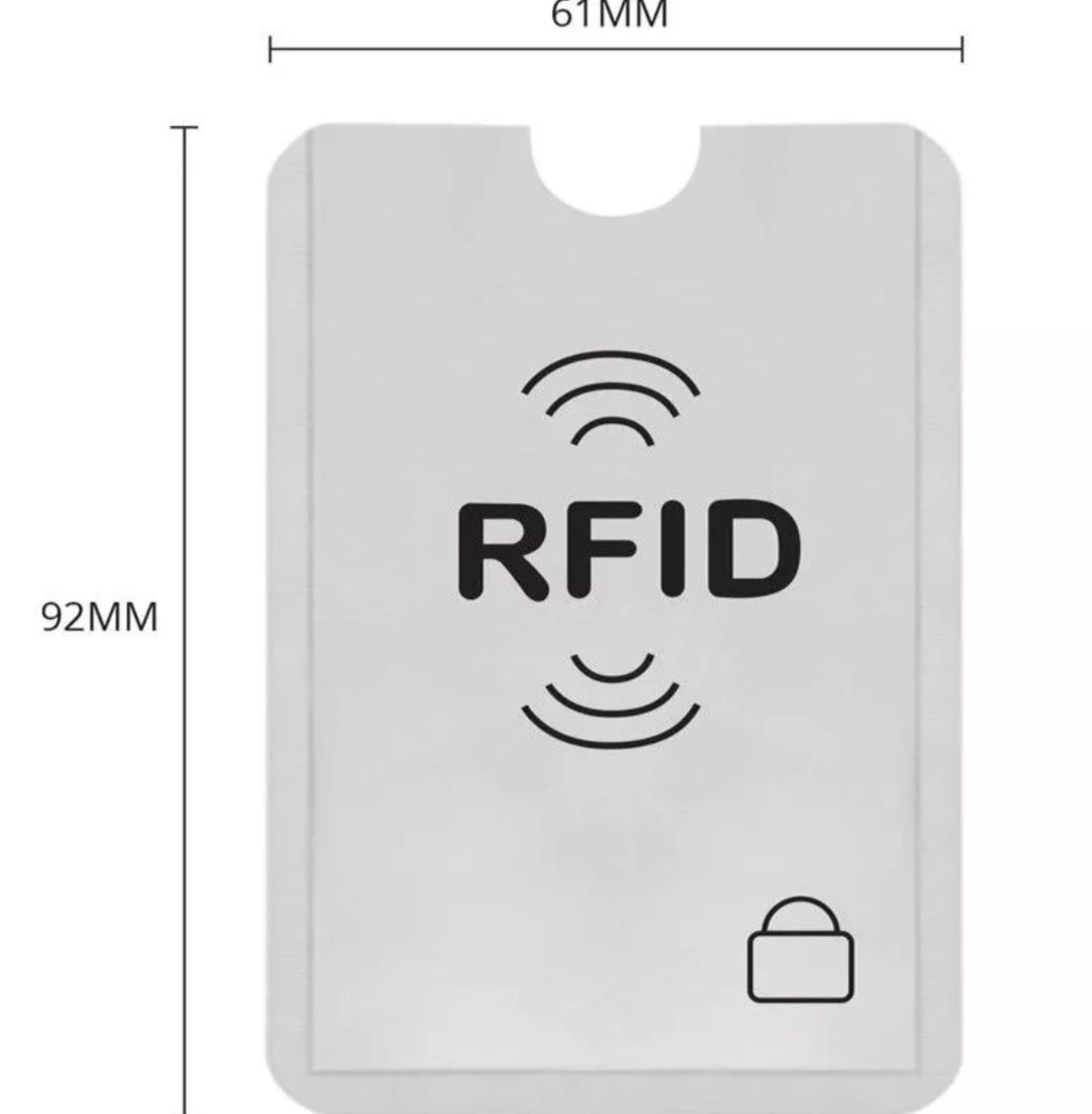 מגן RFID לכרטיסי אשראי - חוסם אות תשלום אלחוטי (משלוח חינם*)