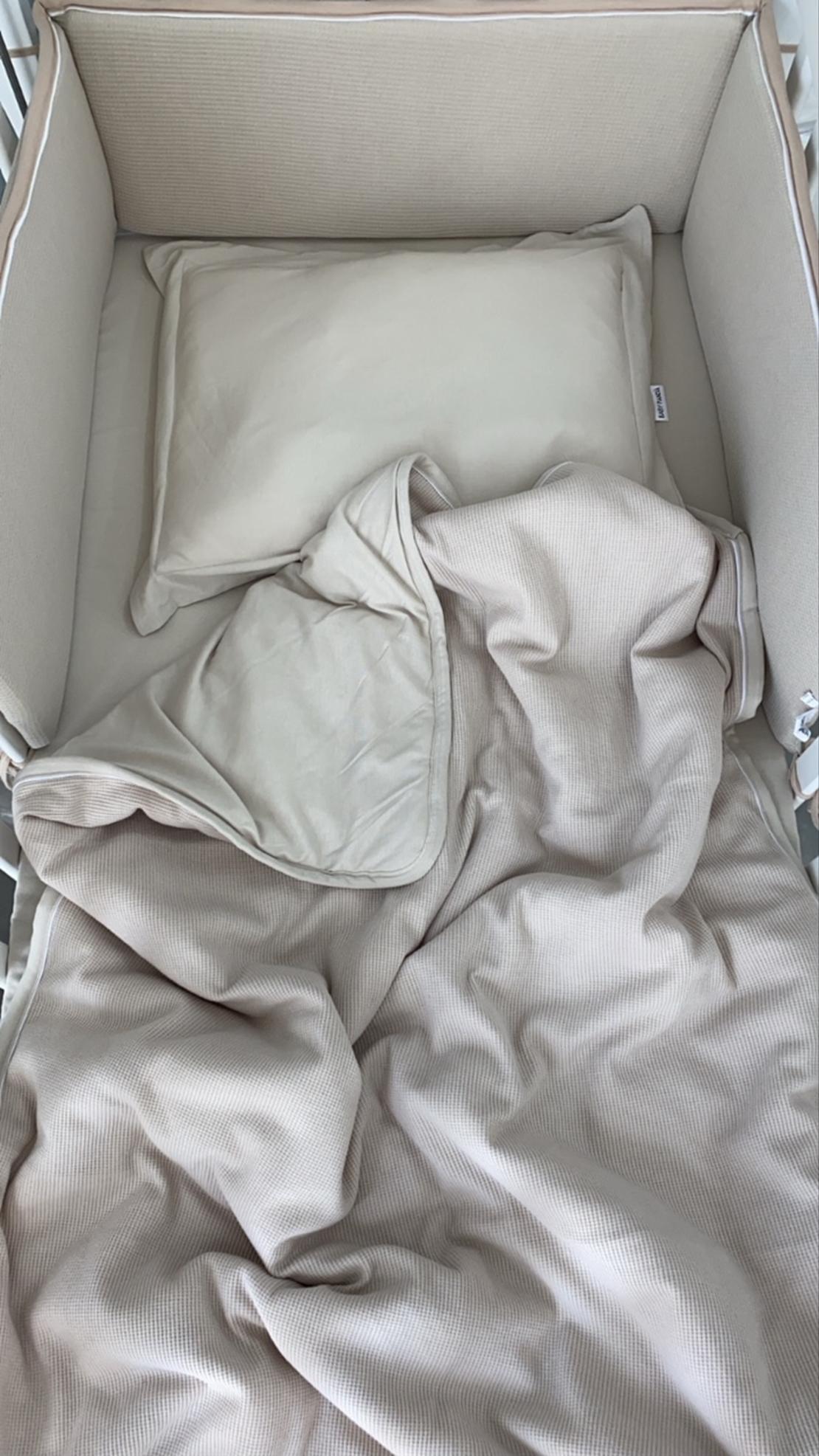סט קיץ מלא למיטת תינוק   נס קפה וופל