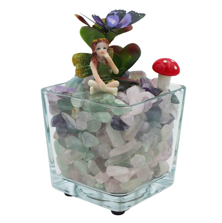 מנורת קריסטלים זכוכית מרובעת פלורייט