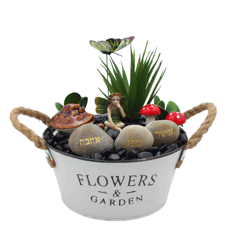אדנית מתכת - Garden עם קריסטל אוניקס