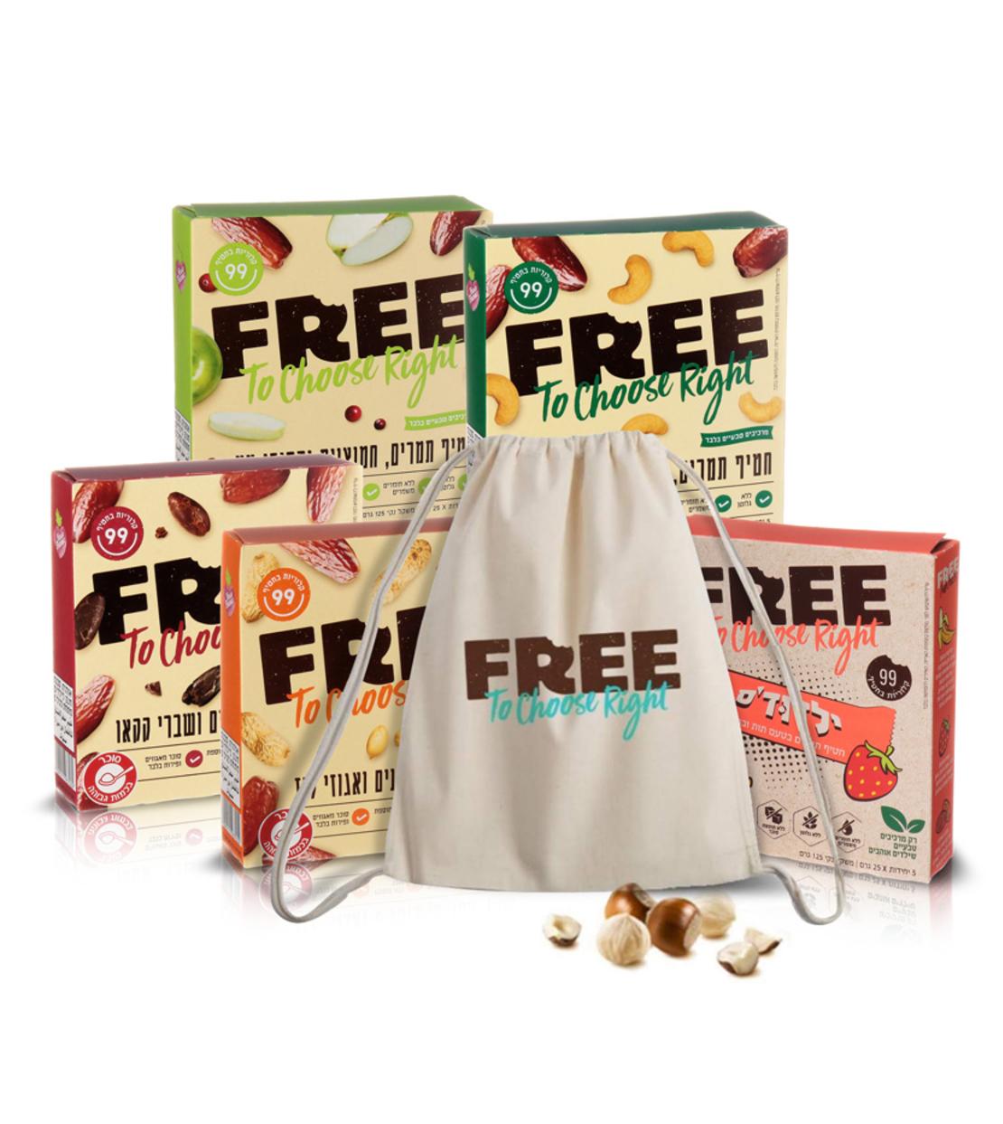 FREE פרי מארז חטיפי תמרים ותיק מתנה