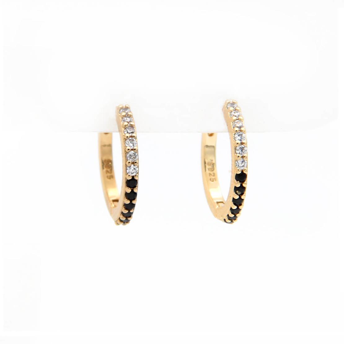 סט עגילים - SUN - כסף 925 בציפוי זהב מיקרוני