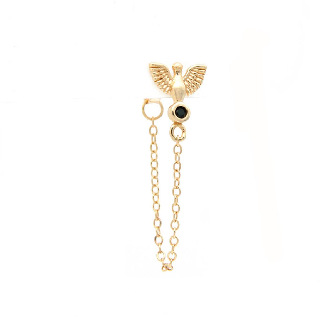 סט עגילים - CECILE - כסף 925 בציפוי זהב מיקרוני