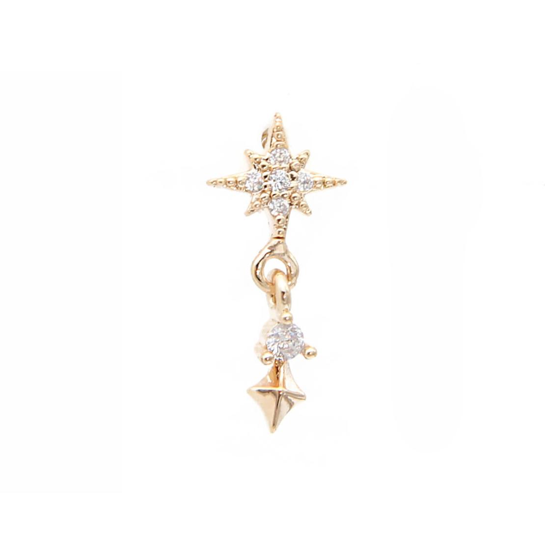 קומבינציית עגילים - CLAIRE - כסף 925 בציפוי זהב מיקרוני
