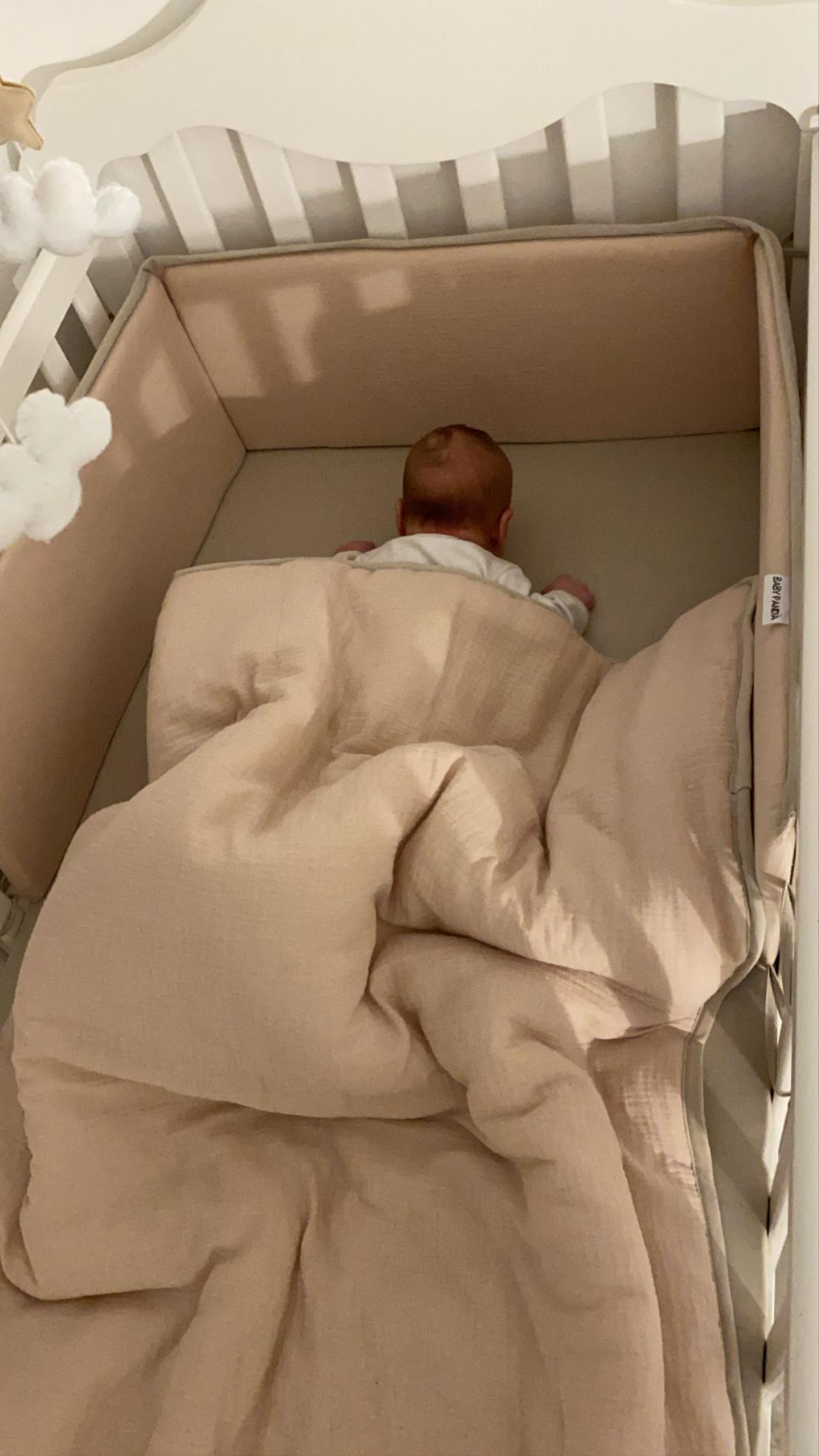 סט למיטת תינוק נס קפה | Natural Tetra