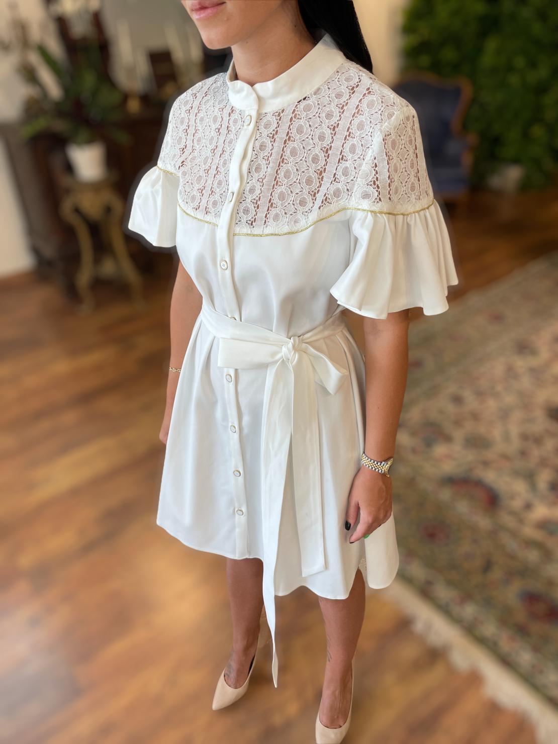 Noya Dress - White