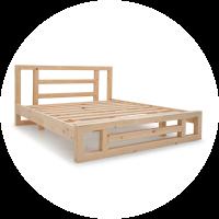 מיטות עץ אורן מלא